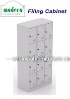 Locker 12 Pintu Modera ML 8812 Grey