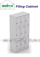 Locker 9 Pintu Modera ML 889 Grey
